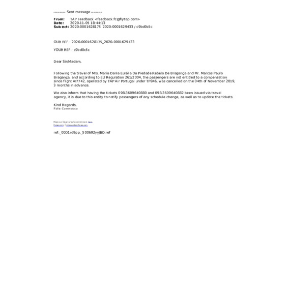 Tripmonster - Reembolso por voo cancelado e não comunicado