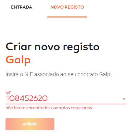 Galp - Não consigo entrar/registar no mygalp