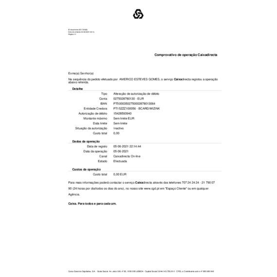 WiZink - Peço a resolução urgente dentro do possível do assunto em epigrafe