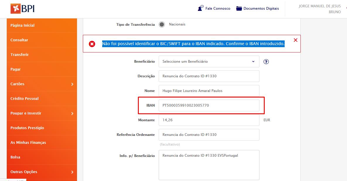 EVS Portugal - Paguei o servidor e foi suspenso
