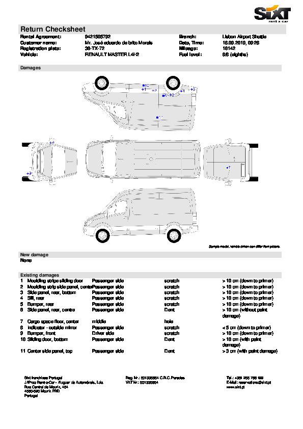 Sixt - Aluguer de viatura comercial